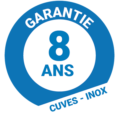 Garantie 8 ans inox